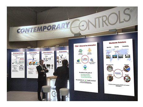 Contemporary Controls Booth at the SPS Show